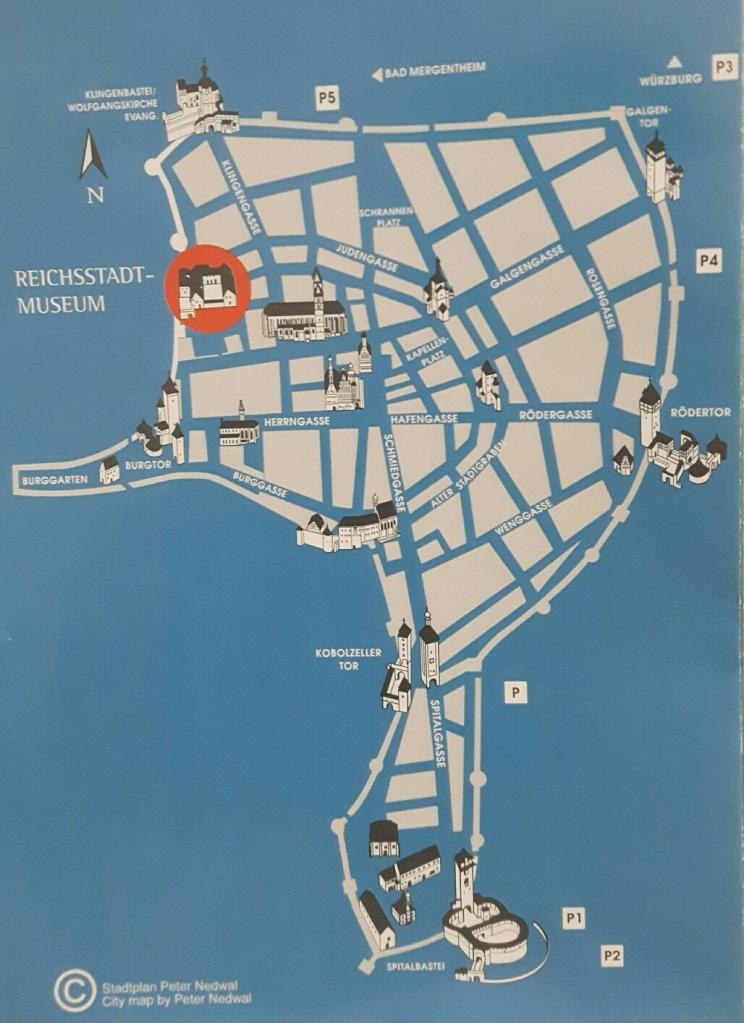 Mapa Rothenburg ob der Tauber