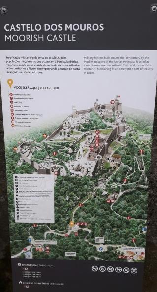 Mapa castelo dos mouros