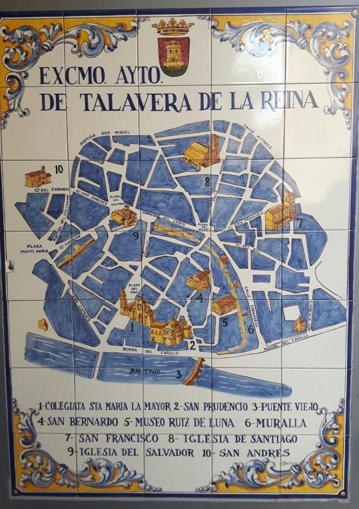 Mapa turistico de Talavera de la Reina