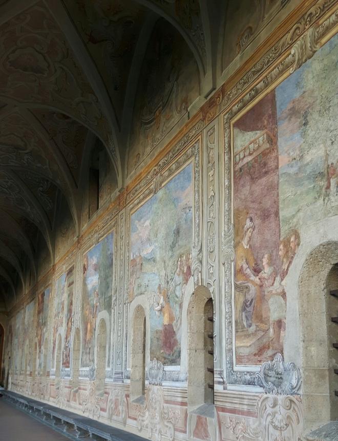 frescos del monasterio de Santa Clara